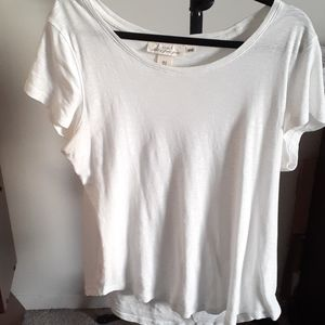 H&M Round-Neck Relaxed Fit White T Shirt - Size Extra Large.